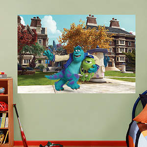 Mike and Sulley Campus Mural Fathead Wall Decal